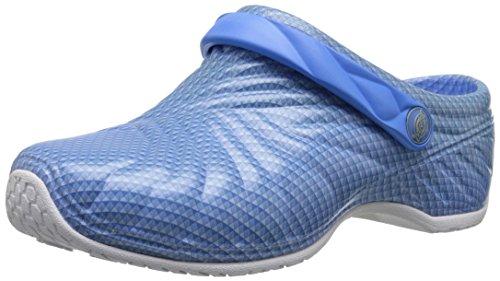 Dickies Women's Zigzag Work Shoe, Blue Pattern, 5 M US - Cherokee Nursing Clogs