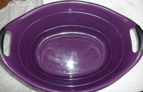 Wanne Plastikwanne 25 Liter; Lila; mit ergonomischen Griffen, für Wäsche, Baby