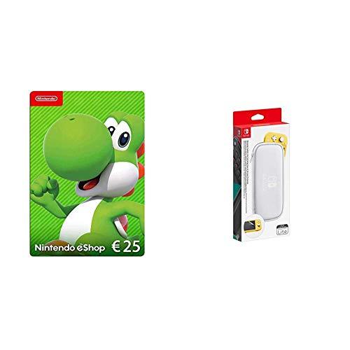 Nintendo eShop Card | 25 EUR Guthaben | Download Code & Nintendo Switch Lite -Tasche & -Schutzfolie