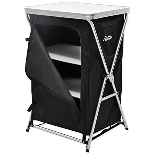 410vV%2B45L5L. SS500  - Andes Foldable 3 Shelf Camping Cabinet Tent Storage Wardrobe Cupboard