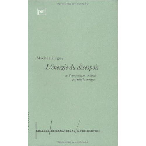 L' énergie du désespoir, ou d'une poétique continuée par tous les moyens