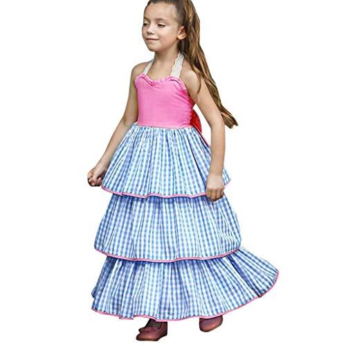 Vestito bambina matrimonio principessa torta aperta vestito ragazza elegante estivo abiti bambina da cerimonia 2-11 anni vestito ragazza elegante moda qinsling