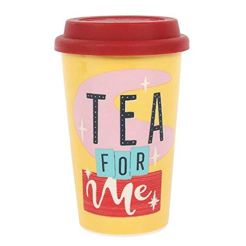 TEE f?r ME Travel Tasse, Thermo, Keramik, rot isoliert Gummi Deckel H: 13.50?x W: 8,70?x D: Uhr
