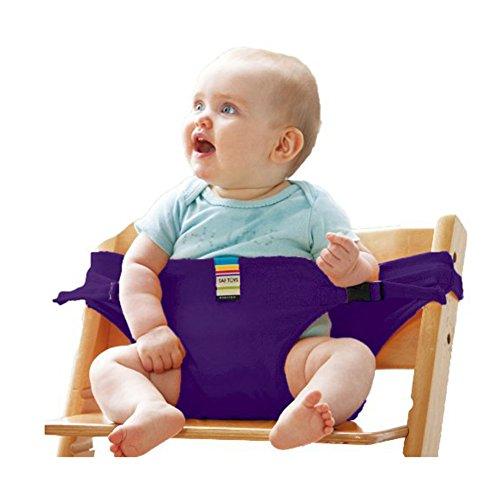 1x Baby Sitz tragbar Esszimmerstuhl Sicherheitsgurt Sicherheit Stretch Wrap Puppenhochstuhl Verkabelung 8Farben Sicherheits-verkabelung