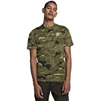 Nike Sportswear Camo T-Shirt Homme, Neutral Olive/Medium Olive/White, FR : 2XL (Taille Fabricant : 2XL)