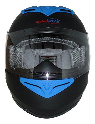 Protectwear Motorradhelm V121-BL schwarz-blau matt - M - 4