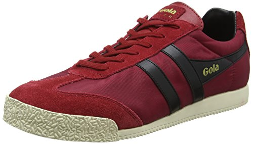 Gola Harrier Nylon, Zapatillas para Hombre, Rojo Deep Red/Black RB, 44 EU