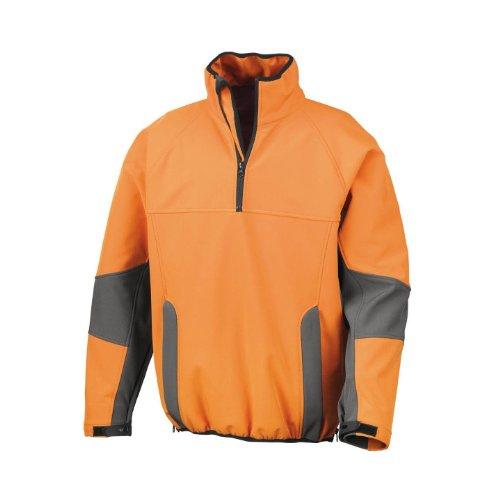 Result Opus Tech Performance Lite Sorfshell Pullover Orange/Grau