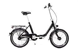 Sachsenring 20 Zoll Alu Klapp Rad Falt Fahrrad Folding Bike Shimano 7 Gang Nabendynamo Black