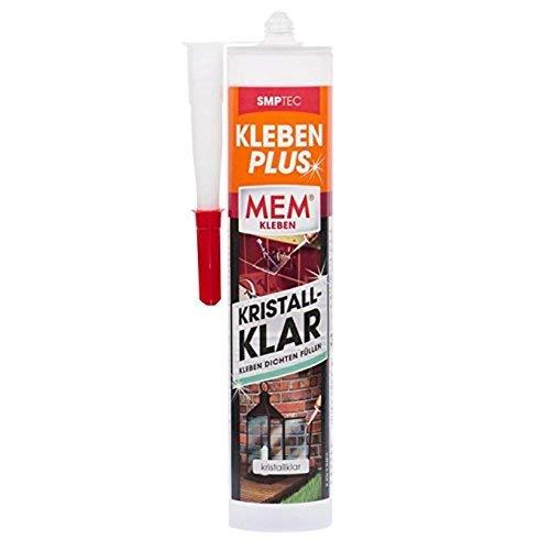MEM Kleben PLUS kristallklar 300 g - Zum Kleben, Dichten und Füllen *Metallkleber* *Kunststoffkleber*