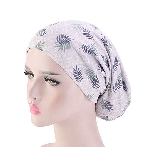 Amorar Damen Baumwollmütze Kopftuch Turban Schlafmütze Hijab Bandana Kopfbedeckungen Chemo Hut Weich Slouchy Beanie Kopf Wraps Headwear Skull Cap für Krebs, Haarausfall, Chemotherapie, Make up (Muslim-skull-cap)