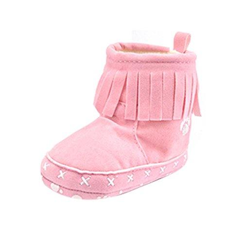 Covermason Baby Kinder Weiche Sohle Kleinkind Schuhe Krippe Schuhe Schneestiefel prewalker Rosa