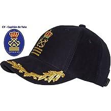 HSL yate barco marinero Capitán disfraz sombrero gorra azul marino admiral- black b9e32ddac2e
