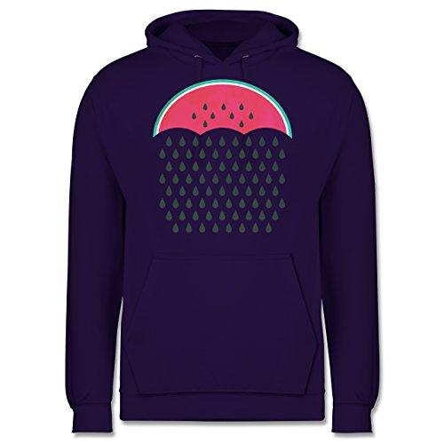Statement Shirts - Watermelon Rain - Männer Premium Kapuzenpullover / Hoodie Lila