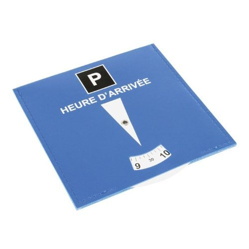 Disque bleu de stationnement obligatoire en zone de parking gratuite bleue