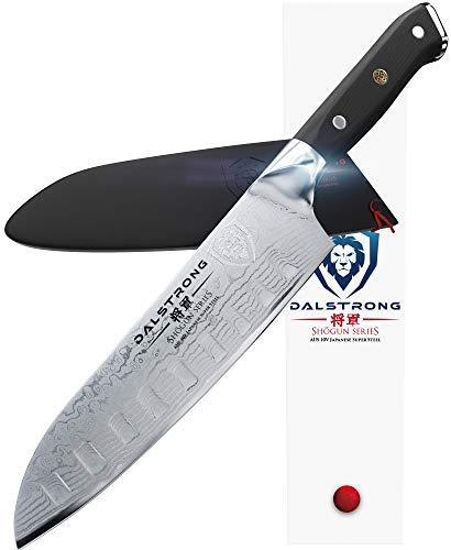 DALSTRONG Santoku Messer - Shogun Series - AUS-10V - 67 lagiger japanischer Stahl - Vakuum-wärmebehandelt - 18 cm -
