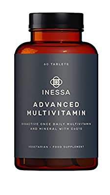 One A Day Advanced Multi Vitamin plus D3 (2000 IU), K2 (100mcg), B Complex, Vitamins A (800mcg), Folic Acid as 5-MTHF (400mcg), Zinc (20mcg), Lutein and CoQ10 (50mg) in their most absorbable forms at optimal levels based on research based evidence. from I