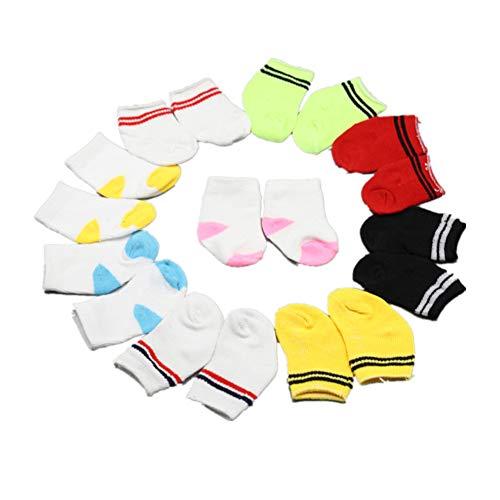 Fully 5 Paare Puppen Socken Söckchen Fußkettchen für 18 '' American Girl Puppen Kleidung Dress up (Stehen Up Kleidung Dress)