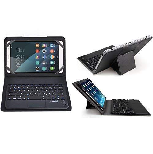 LEDELI Bluetooth Wireless QWERTZ deutsche Tastatur Keyboard mit Schutzhülle Case Cover Tasche Hülle Etui für Huawei (für Tablet Huawei Mediapad X2)
