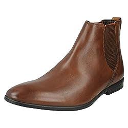 Clarks Mens Bampton Top Beige Boots - 10 UK/India (44.5 EU)
