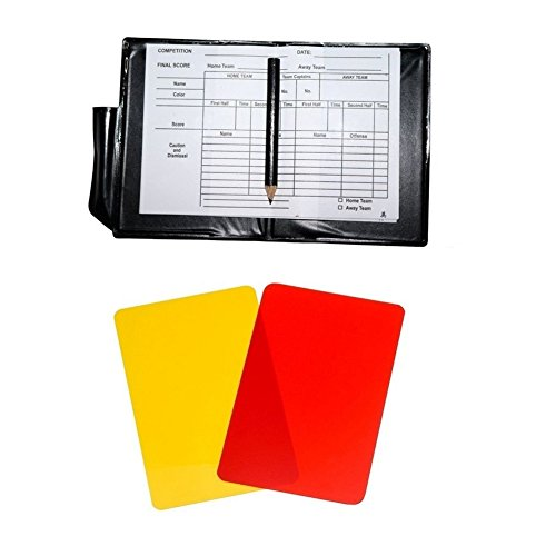 Friencity Football Soccer Referee Card Sets  Warning Referee Red and Yellow Cards with Score Sheets  Pencil Accessories  2 Packs