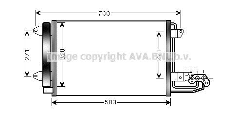 Van Wezel 58005209 Kondensator, Klimaanlage