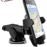 Mobilegabbar Adjustable Mobile Holder / Mobile Stand / Car Stand With Quick One Touch Technology For Mobiles Phones (Black )