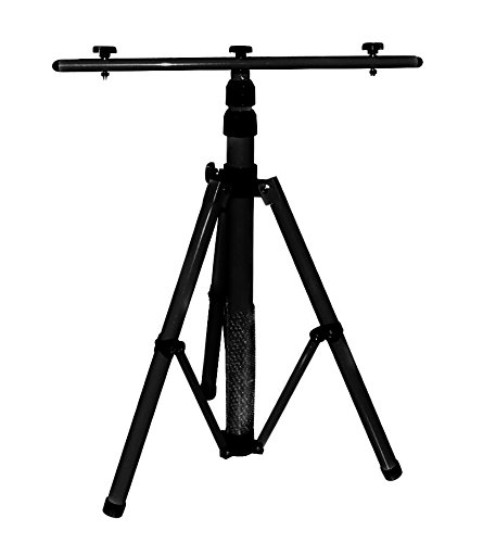 Stativ für LED-Strahler, Halogen-Strahler, Baustrahler usw. Höhenverstellbar bis 1,60 m, schwarz