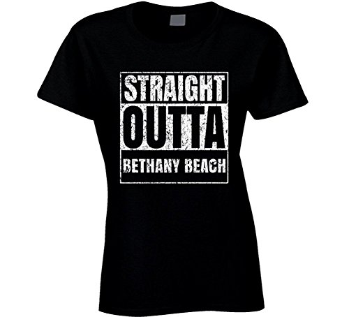Straight Outta Bethany Beach City Grunge Worn Look Cool T Shirt (Bethany Beach)