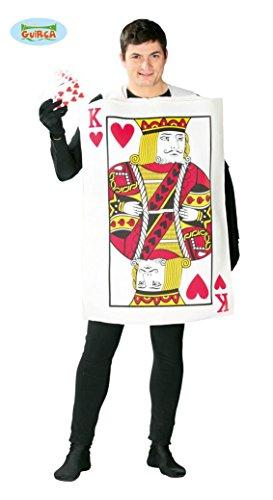 König der Herzen Spielkarte - Kostüm für Herren Karneval Fasching Herz Gr. M/L, Größe:L (Der König Der Herzen Kostüm)
