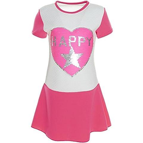 BEZLIT Kinder Mädchen Pailletten Kleid Peticoatkleid Festkleid Sommerkleid 21224,