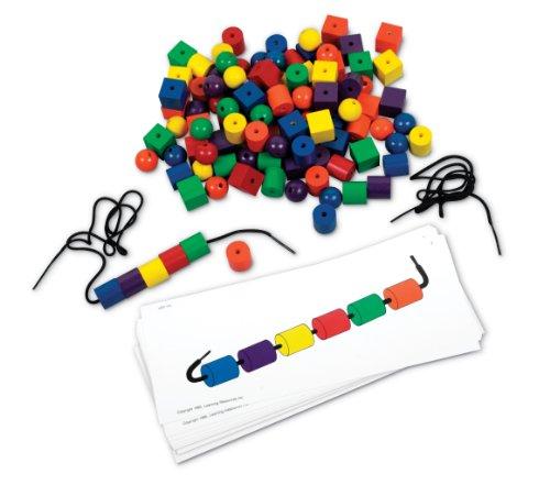 Learning Resources Resources-LER0139 Jeu de Perles et de Cartes de Motifs de, LER0139