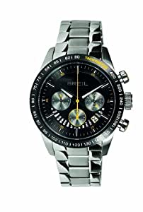 Breil Speed One Men's Quartz Watch with Black Dial Chronograph Display and Silver Stainless Steel Bracelet TW0676