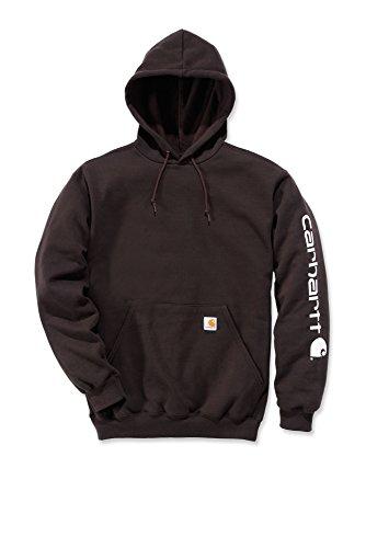 Carhartt Signature–Sweatshirt mit Kapuze Herren, mit Carhartt Logo dunkelbraun