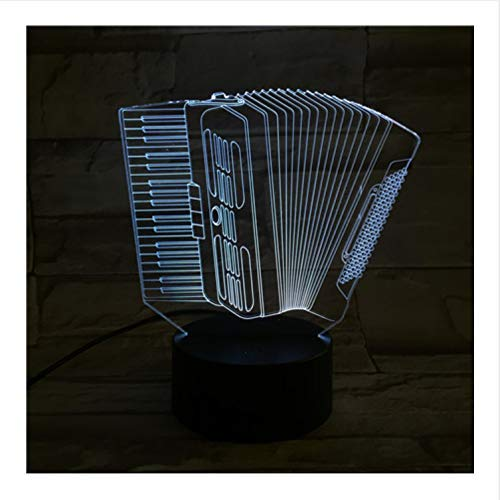 Orgelmusik 3D Optische Täuschung Tischleuchte Stimmungslampe Touch & Amp;Fernbedienung 7 Farben Ändern Zu Hause Licht Neuheit Kinder Geschenk (Zu Amps Für Hause)