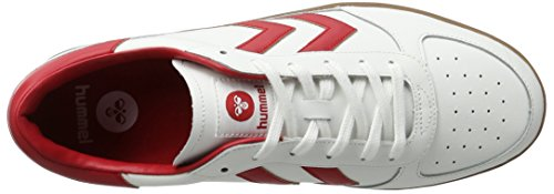 Hummel Victory Leather, Sneakers Basses Mixte Adulte Blanc (White)