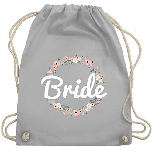 Kostüm Ein Schule Sie Tragen Zur - JGA Junggesellinnenabschied - Bride Blumenkranz - Unisize - Hellgrau - WM110 - Turnbeutel & Gym Bag