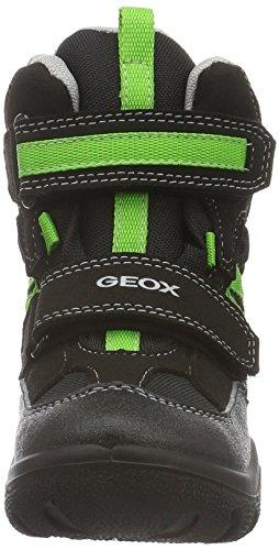 Geox Frosty Wpf D, Bottes de Neige Garçon Schwarz (Black/Greenfluoc9022)