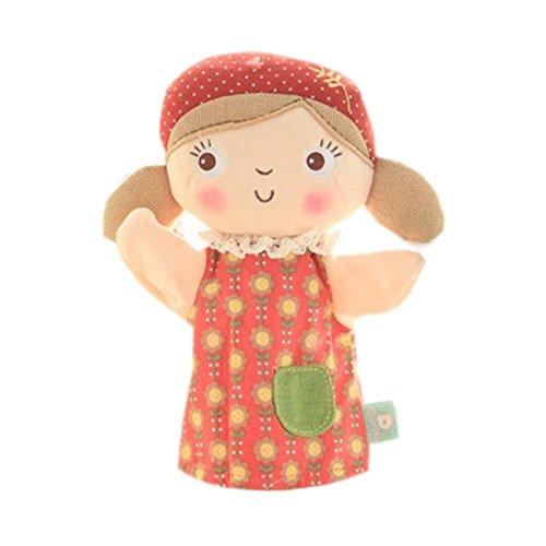 Belles Marionnette main Poupées enfants avec jupe rouge, Fille