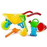 deAO Brouette Multicolore avec Accessoires de Jardinage Inclus - Jardinage pour les Enfants