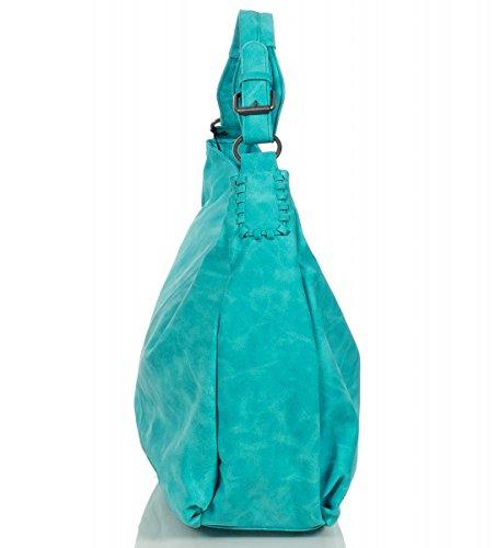 Fritzi aus Preußen Jeannie New York Shopper Borsa 53 cm Turquoise