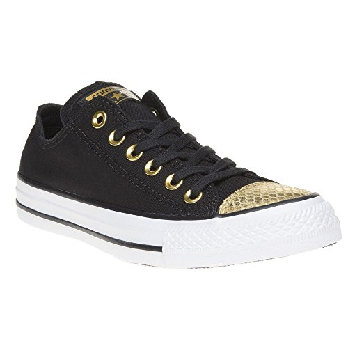 Converse Damen All Star Metallic Toecap Sneaker Black