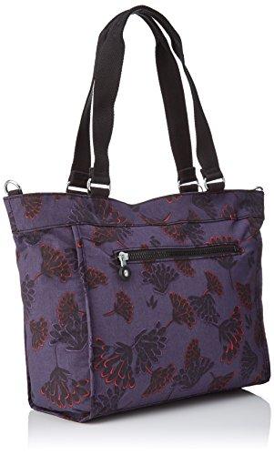 Kipling - New Shopper S, Borse Tote Donna Multicolore (Floral Night)