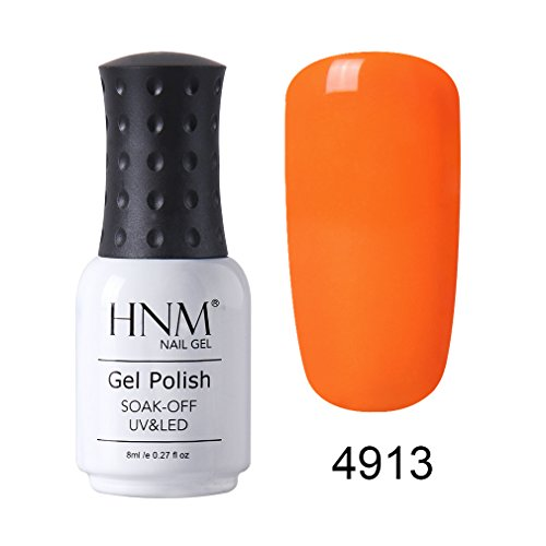 HNM Vernis à Ongle Gel Polish Orange UV LED Soakoff Nail Art Vernis Semi Permanent Manucure 8ml-4913