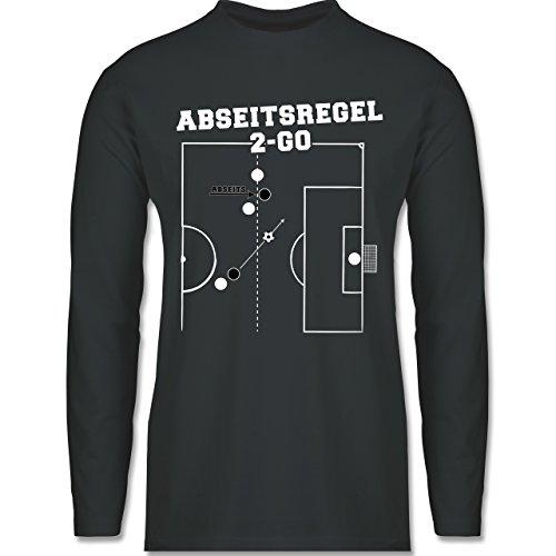 Shirtracer Fußball - Abseitsregel-2-Go - Herren Langarmshirt Dunkelgrau