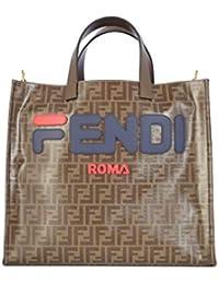 Fendi Borsa Shopping Donna 8BH357A5N6F155V Tessuto Marrone afc6fdb6b04