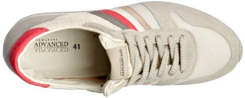 Serafini Los Angeles - Scarpe sportive unisex adulto Bianco (Pink Fluo)