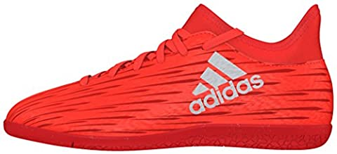 adidas Unisex-Kinder X 16.3 in Fußballschuhe, Orange (Solar Red/Silver Metallic/Hi-Res