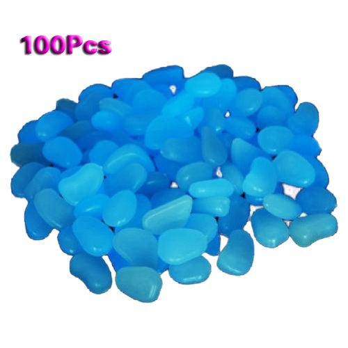 sodialr-100-man-made-glow-in-the-dark-pebbles-stone-for-garden-walkway-sky-blue