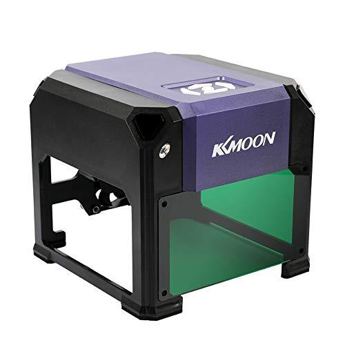 Preisvergleich Produktbild KKmoon 3000 mW High Speed Lasergravur Maschine, USB DIY Carving Graveur Handwerk Holzofen Werkzeuge Automatische K5 Typ mit 80 * 80mm Große Gravurfläche für WIN XP / 7/8/10